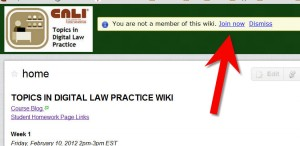 Join the course wiki